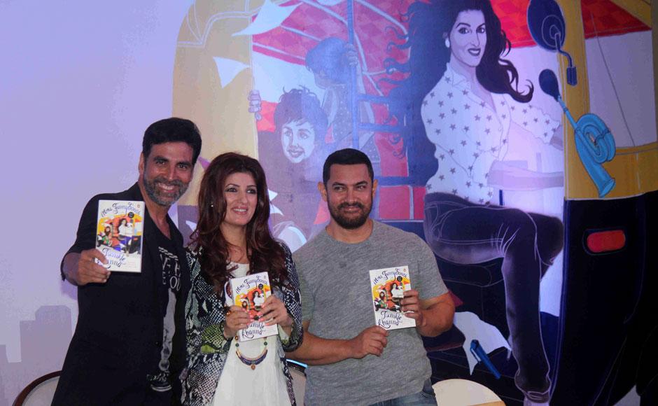 Twinkle Khanna, Akshay Kumar and Aamir Khan