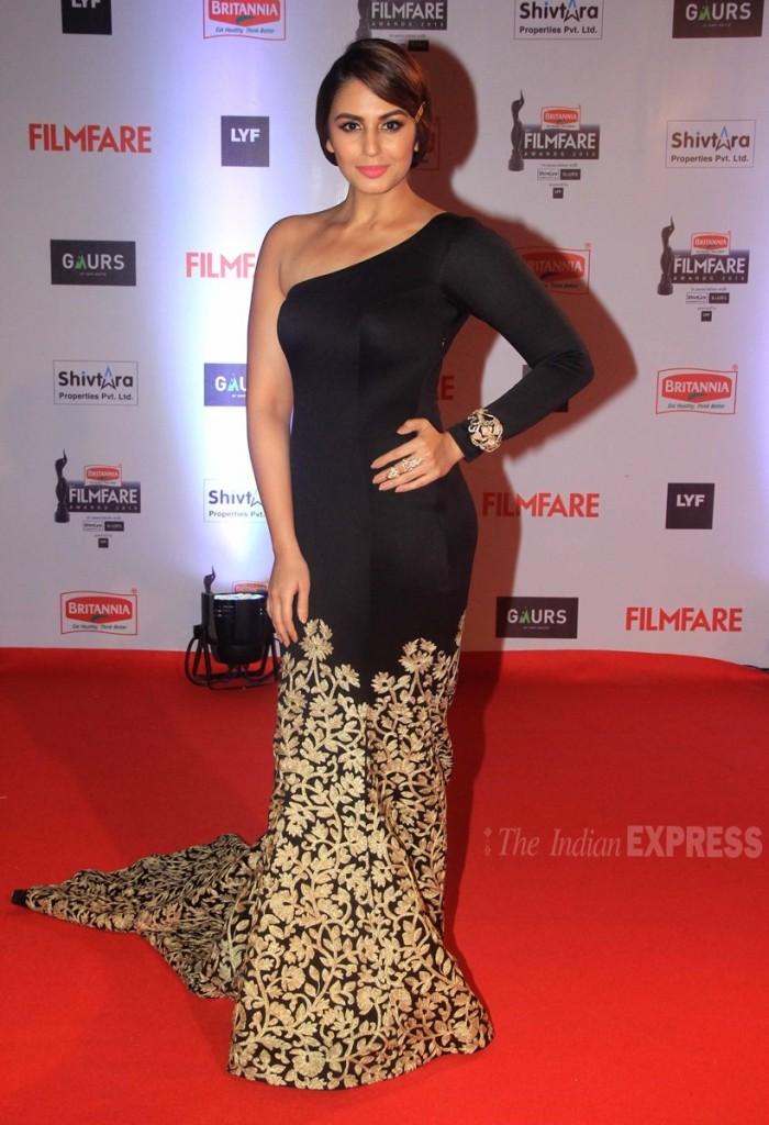 Huma Qureshi at filmfare 2016